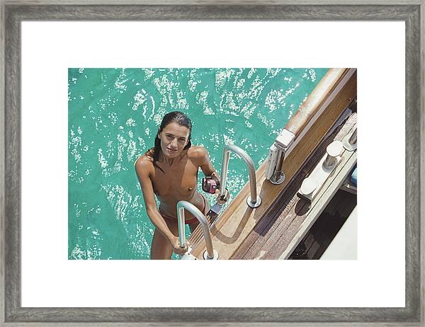 Eva Maria Lopez Framed Print by Slim Aarons