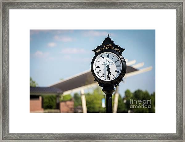 Evans Towne Center Park Clock - Evans Ga Framed Print