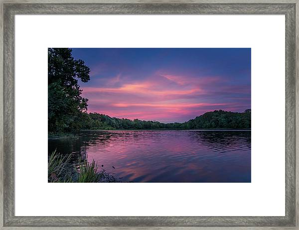 Evening At Springfield Lake Framed Print