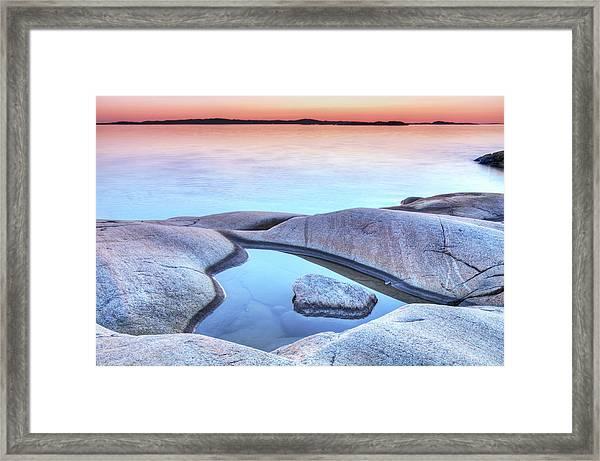 Evening At The Swedish Coastline Framed Print
