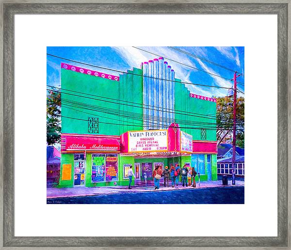 Evening At The Variety Playhouse - Atlanta Framed Print