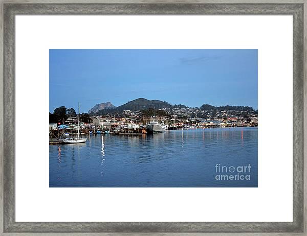 Evening In Morro Bay Framed Print