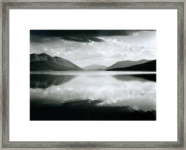 Evening, Mcdonald Lake, Glacier Framed Print