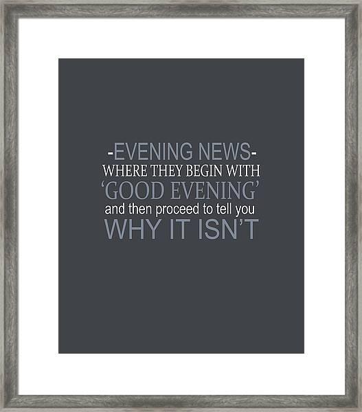 Evening News Framed Print