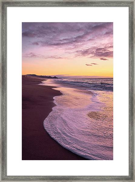 Framed Print featuring the photograph Evening On Gleneden Beach by Whitney Goodey