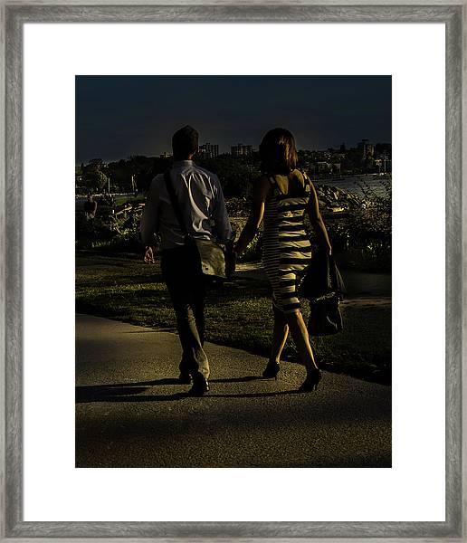 Evening Walk Framed Print