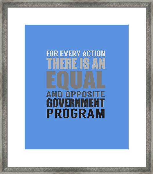 Every Action Framed Print