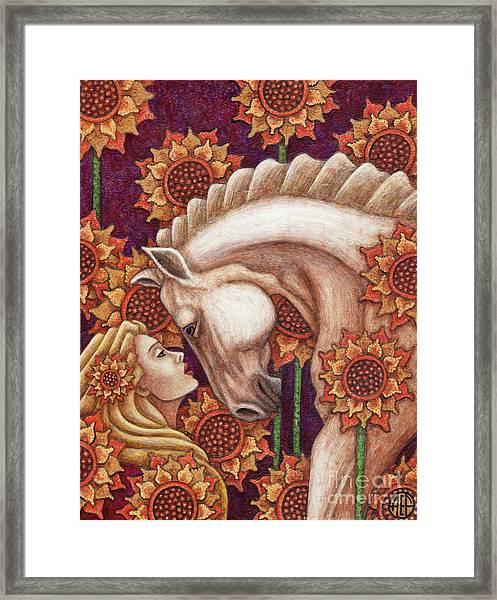 Exalted Beauty Morgan Framed Print
