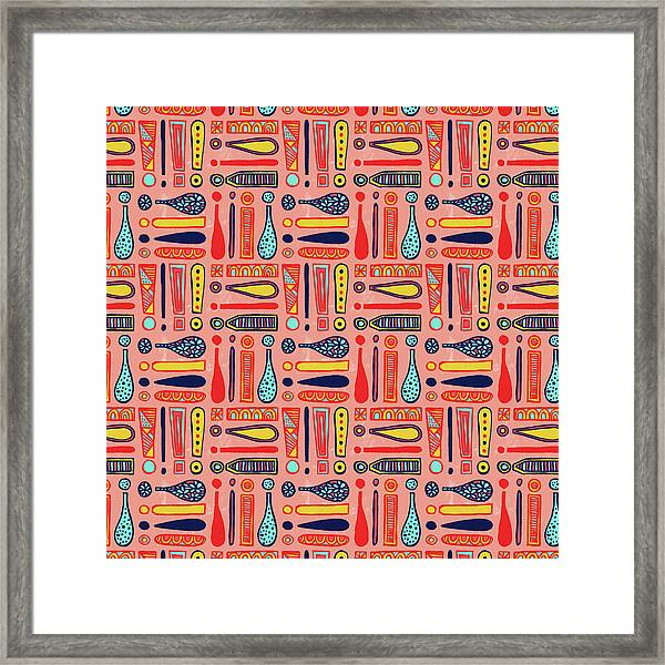 Exclamations Pattern Framed Print