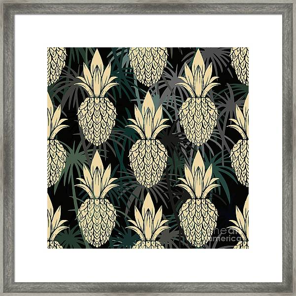 Exotic Seamless Pattern With Framed Print