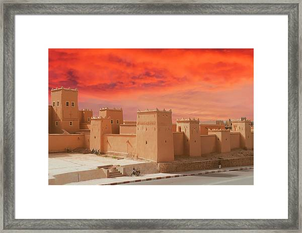 Exterior Buildings Of Kasbah Taourirt Framed Print