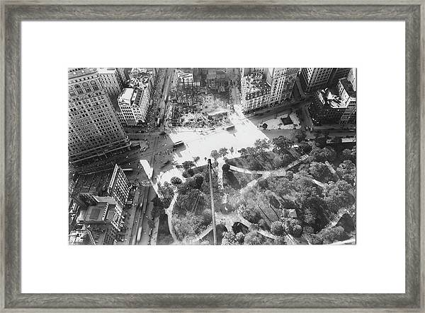 Extreme High-angle View Of Madison Framed Print