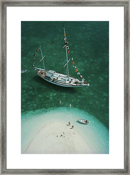 Exuma Holiday Framed Print by Slim Aarons
