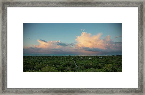 Exuma Skies Framed Print