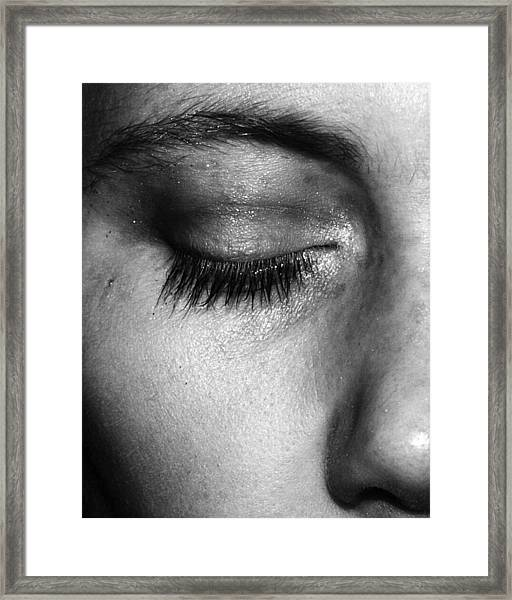 Eye, Closed  Framed Print