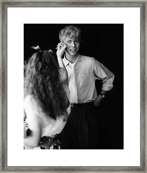 Eyes For Bowie Framed Print by Keystone