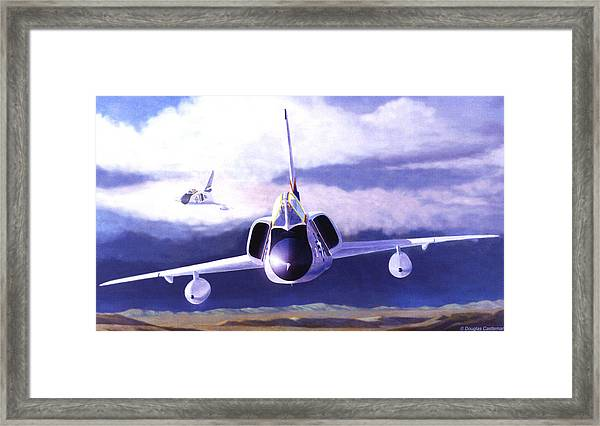 F-106a Head-on Framed Print
