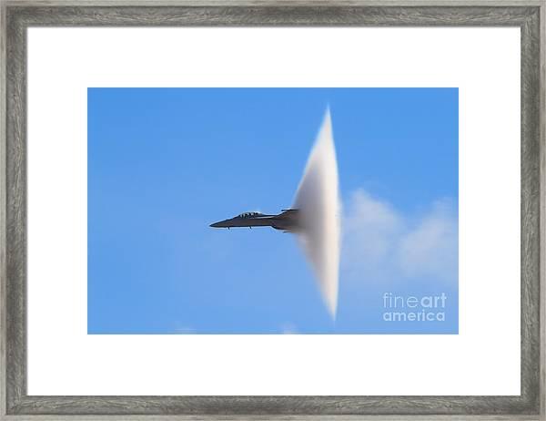 F-18 Super Hornet Vapor Cone - A Framed Print