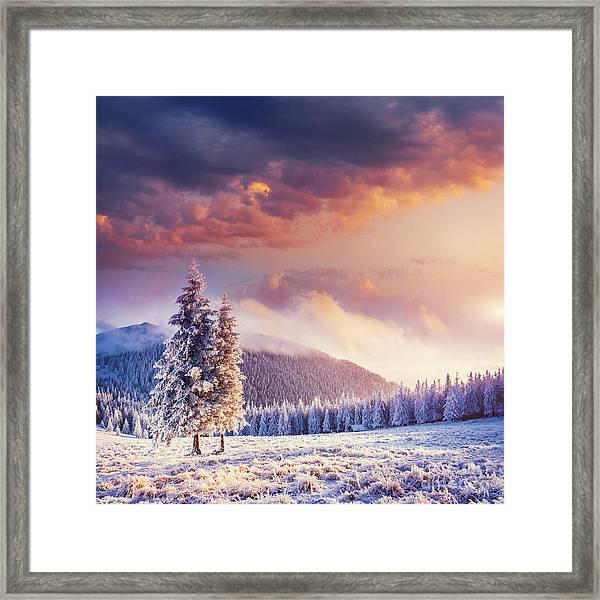 Fabulous Winter Landscape In The Framed Print