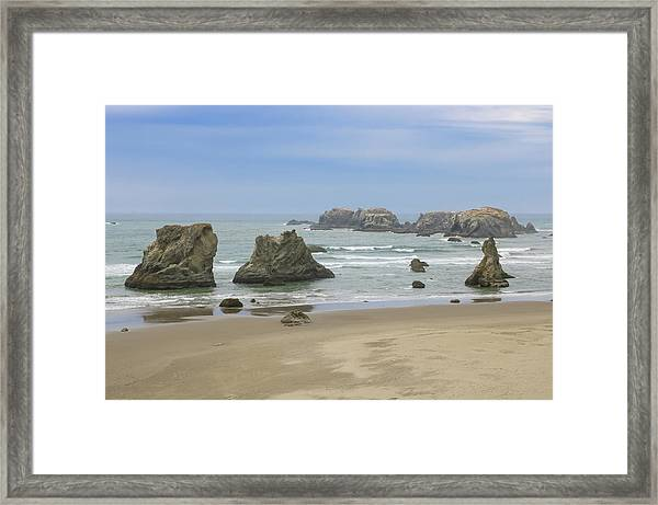 Framed Print featuring the photograph Face Rock Trail, Bandon Beach, Oregon by Dawn Richards