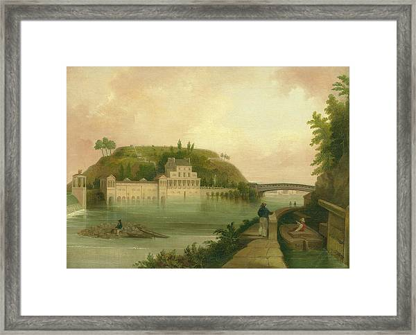Fairmount Waterworks About 1838 Framed Print
