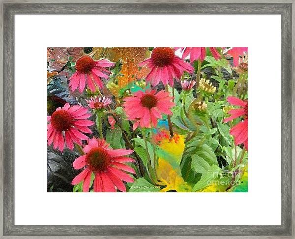 Fairy Among The Flowers Framed Print