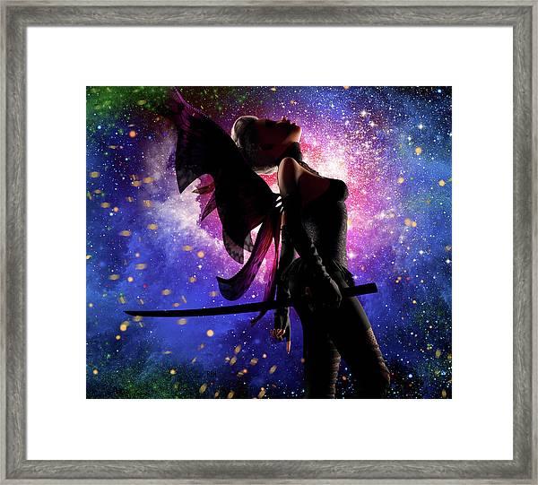 Fairy Drama Framed Print