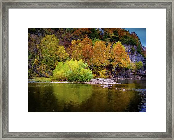 Fall Colors Of The Ozarks Framed Print
