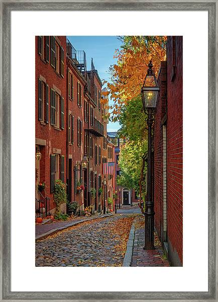 Fall In Beacon Hill Framed Print