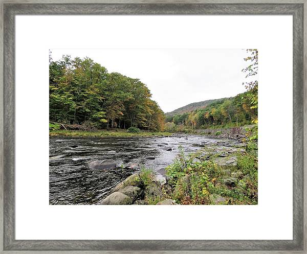 Fall In The Beaverkill Valley Framed Print