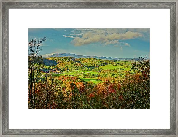 Fall Porch View Framed Print