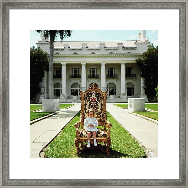 Family Chair Framed Print