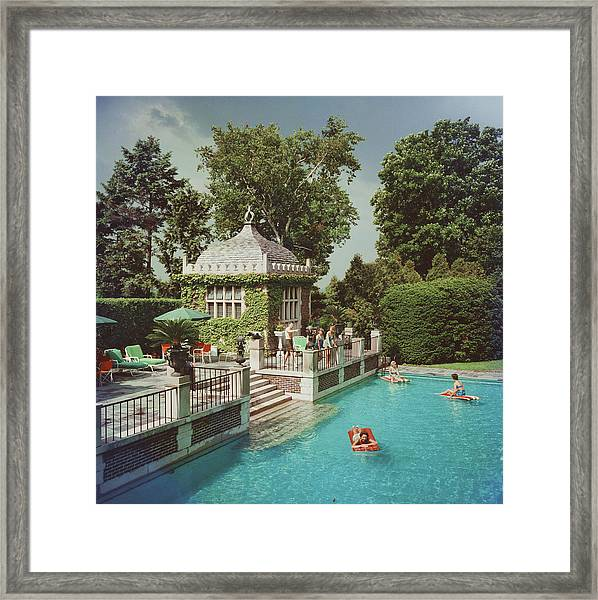Family Pool Framed Print