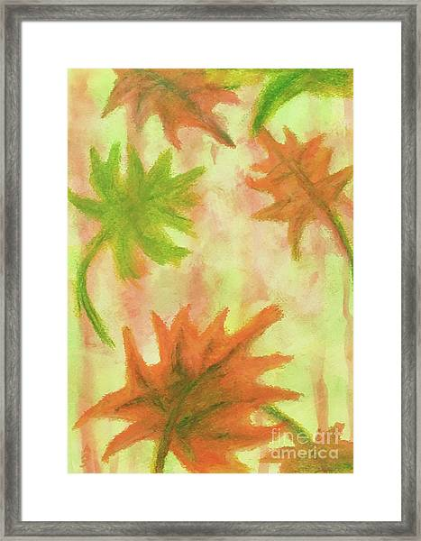 Fanciful Fall Leaves Framed Print