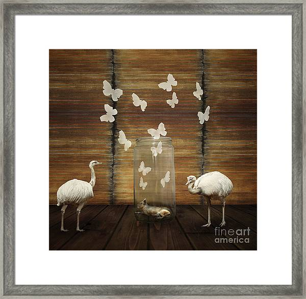 Fantasy Artistic Composition With A Framed Print