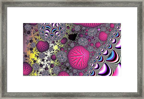 Fantasy World Red Modern Art Framed Print