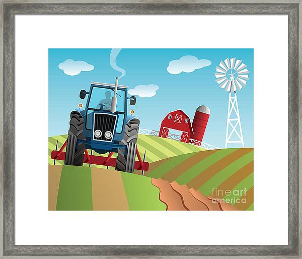 Farm Background Framed Print