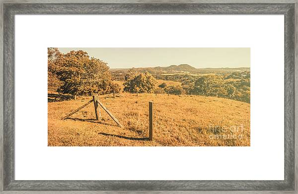 Farm Fields Of Eumundi, Sunshine Coast Framed Print