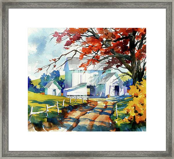 Farm Shadows Framed Print by Art Scholz
