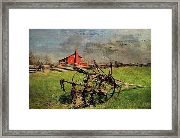 Farming In The 1880s Framed Print