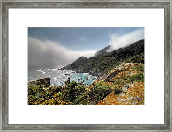 Faro Do Principe. Illas Cies Framed Print