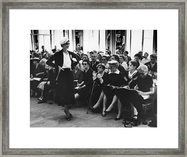 Fashion Journalists Framed Print by John Chillingworth