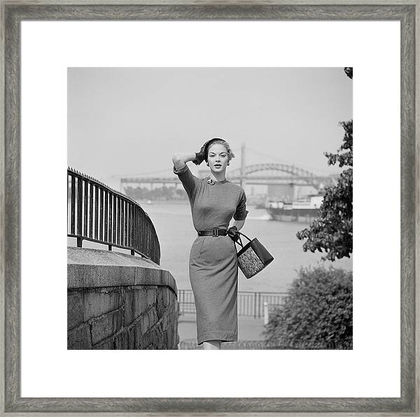 Fashion Of 1953 Framed Print by Slim Aarons