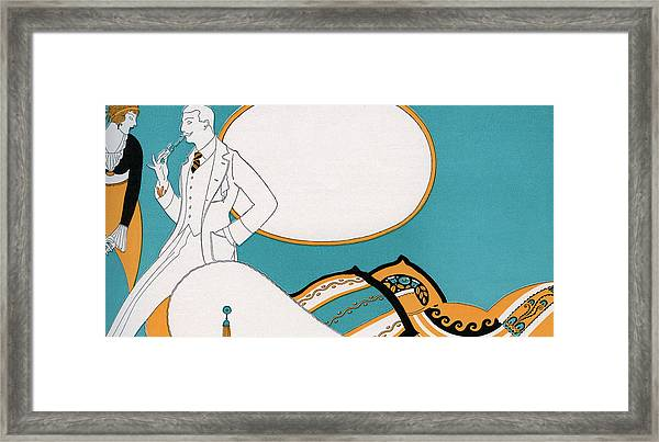 Fashionable Couple In Room Framed Print