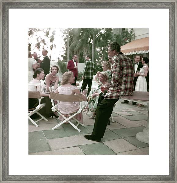 Fashionable Party-goers Framed Print by Nina Leen