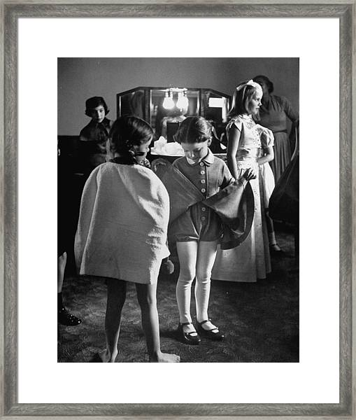 Fashions Childrens Framed Print by Nina Leen