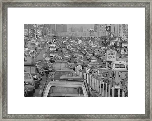 Fathers Day Traffic At The Holland Framed Print by New York Daily News Archive