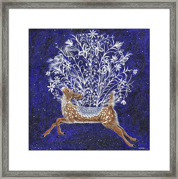 Fawn Bouquet Framed Print