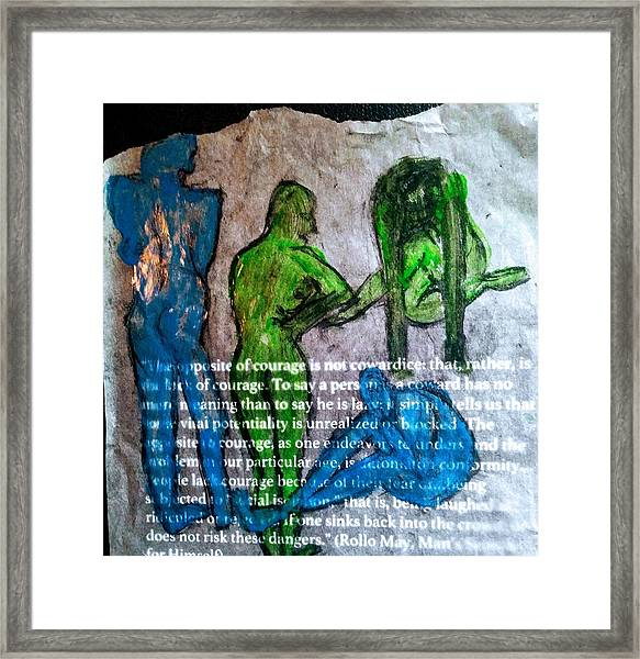 Fear Of The Inexplicable Framed Print