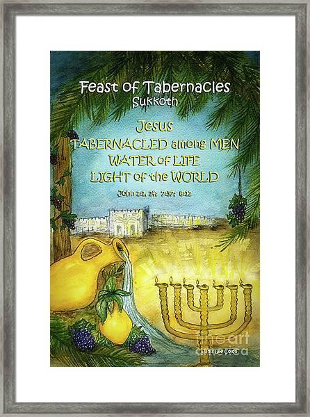 Feast Of Tabernacles Framed Print